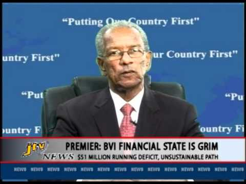 PREMIER   BVI FINANCIAL STATE IS GRIM