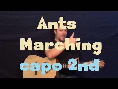Ants Marching (Dave Matthews Band) Easy Guitar Lesson Capo 2nd Fret ...