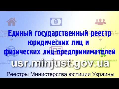 Инструкция. Реестр юридических лиц и физических лиц-предпринимателей