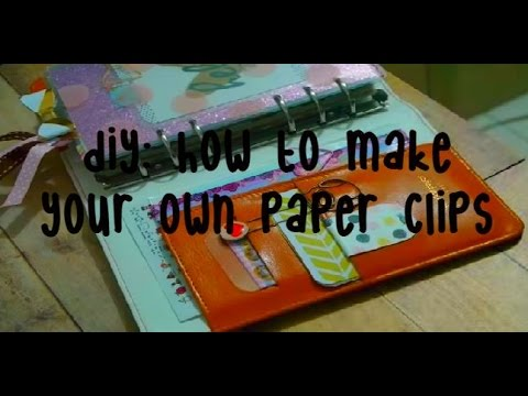 DIY How To Make Your Own Paper Clips (Bow, Metal Button & Ribbon Style)