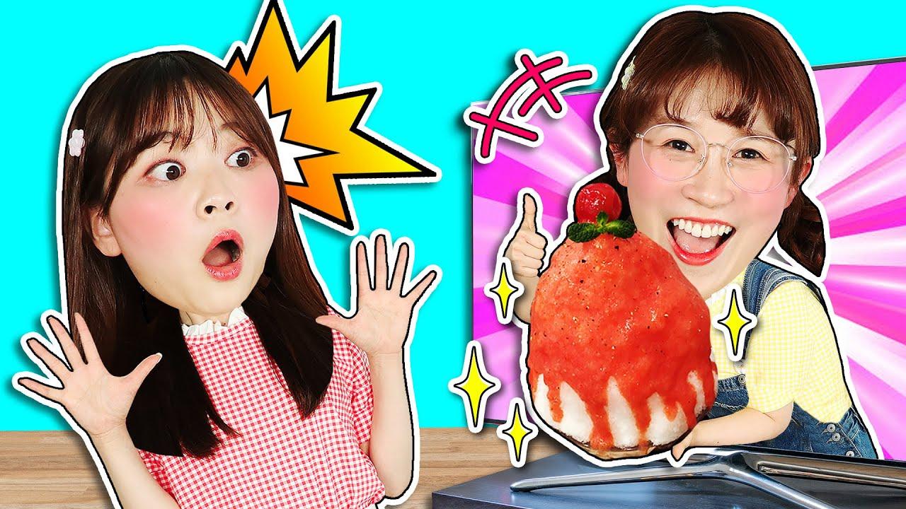 「夏日特輯」炎炎夏日解暑當屬冰淇淋!穿越神奇電視機品嚐美食?ICE CREAM EATING 小伶玩具 | Xiaoling toy