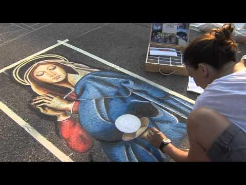 40° Incontro Nazionale dei Madonnari - 15 agosto 2012 - Grazie di Curtatone  (raw footage)