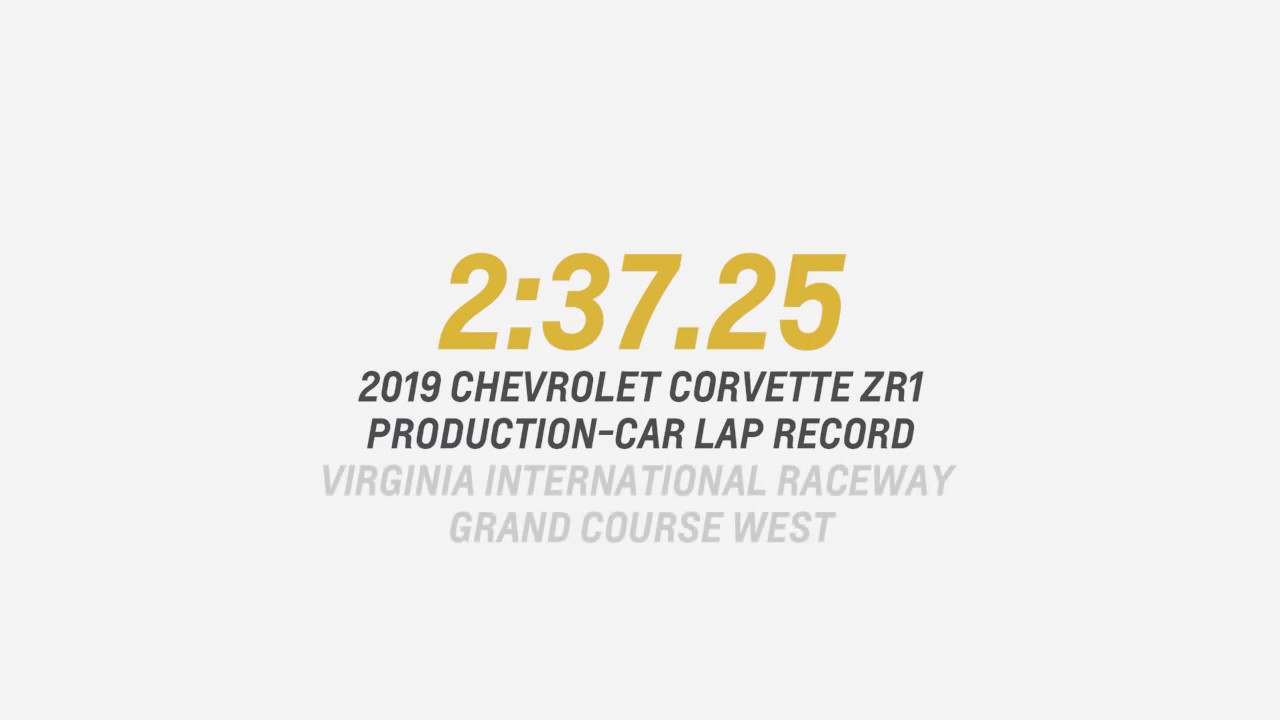 2019 Chevrolet Corvette ZR1 ทุบสถิติความเร็วของ Ford GT