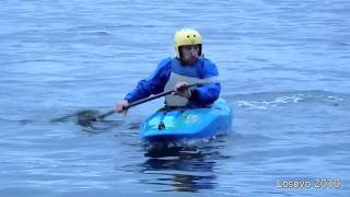 Eskimo Roll on Kayak (with underwater)