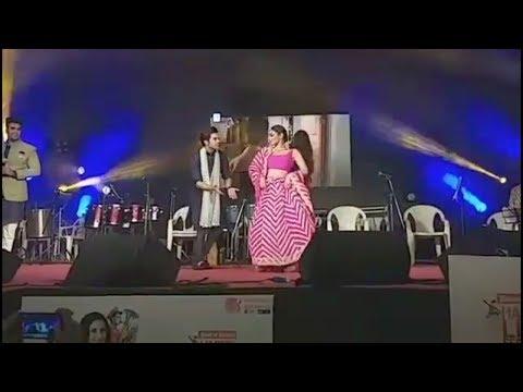 mouni-roy-&-rajkumar-rao-powerpack-sanedo-dance-in-navratriutsav-@-ahmedabad-promoting-made-in-china