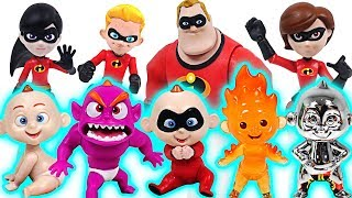 Witch summoned dinosaurs! The Incredibles 2 family and transforming Jack Jack! Go! - DuDuPopTOY