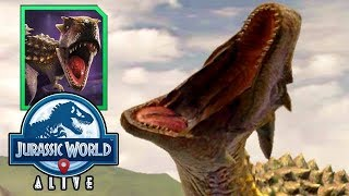 FIGHTING A SPOOFER vs LEVEL 24 TRYKOSAURUS (JURASSIC WORLD ALIVE)