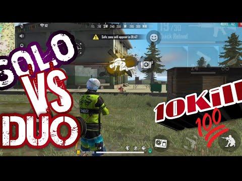Solo VS Dou 10Kill Free Fire Game Play || Rod Knight YT