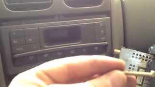 Changement de l'ampoule de l'affichage clim Renault Laguna 1