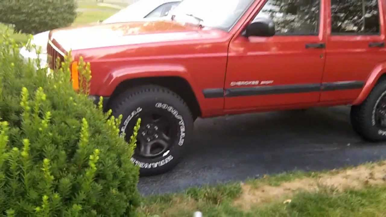 New Tires For My 99 Jeep Cherokee Sport Goodyear Wrangler