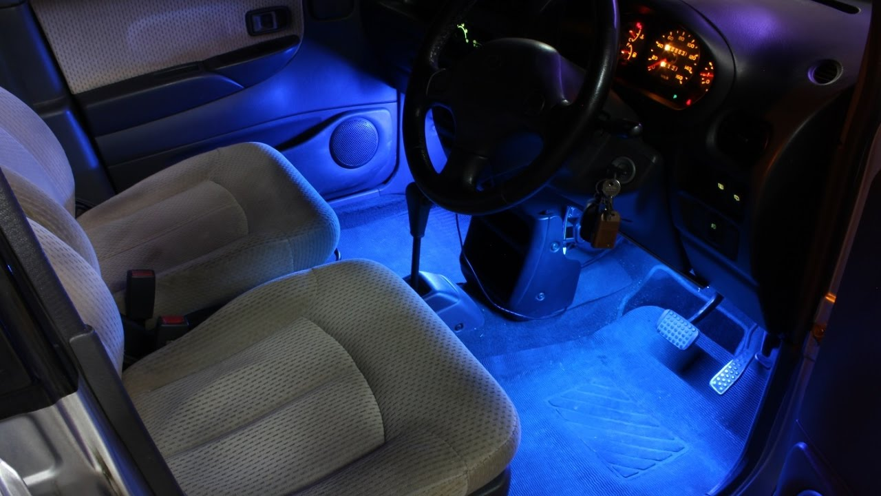 Diy led strip light kit for car youtube diy led strip light kit for car mozeypictures Images