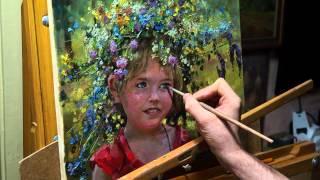 """Дачница"". Олег Буйко. Живопись маслом. Process of creating oil painting"
