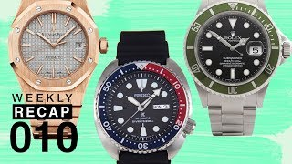 Weekly Recap: Entry-Level Watches, Rose Gold Royal Oak, and Tim Talks Limited Edition Pieces