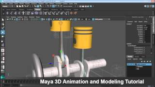 Maya 3D Animation and modeling Tutorial -  Rigging Mechanical Objects in Maya