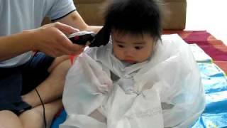 Elden's first hair cut
