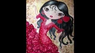 Flamenco Dancer Painting by Marta Dalloul