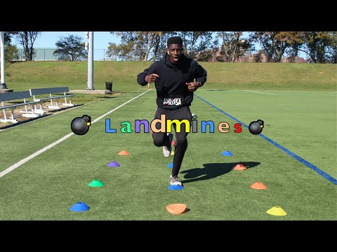 Colorful Minefield/Landmines kids workout | K-12 PE at home fitness games