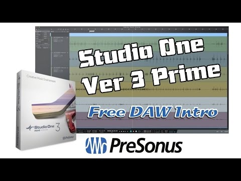PreSonus Studio One v3 Prime, Free DAW - Introduction