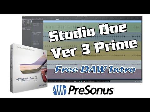 PreSonus Studio One v3 Prime, Free DAW - Introduction
