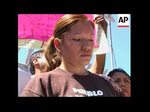 WRAP Protest by woman deported to Mexico, while her 8 year old son is in US