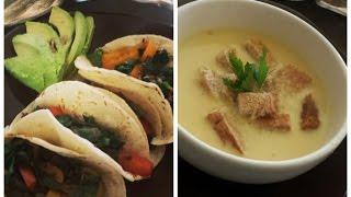 Tacos De Alambre Vegetariarianos Y Crema De Elote