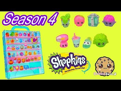 Shopkins SEASON 4 Glitzi Collector's Case With 8 Glitter Exclusive + Petkins - Cookieswirlc Video
