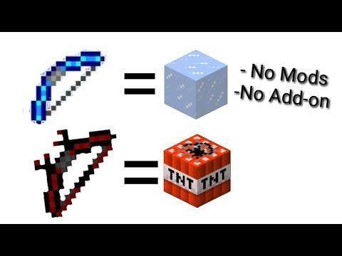 Cara Membuat Panah TNT Dan Panah ICE Di Minecraft - Tutorial 2
