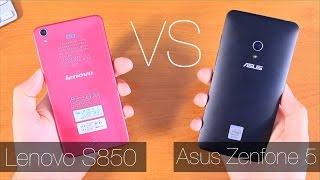 Asus ZenFone 5 vs Lenovo S850 Сравнение