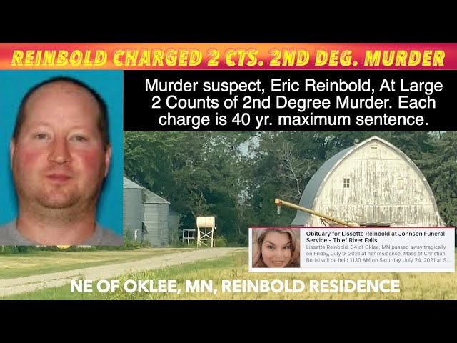 EXCLUSIVE VIDEO: At Large Suspect, Eric Reinbold Charged With Murder In Stabbing Death Of Wife