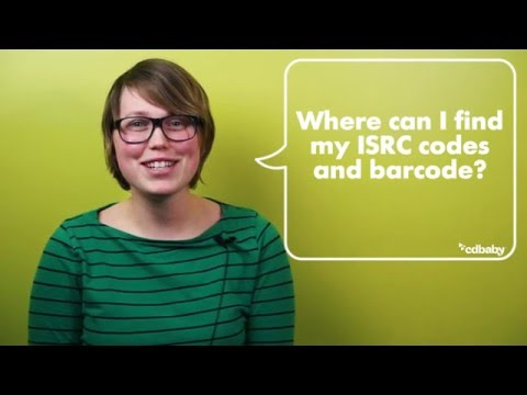 Where can I find my ISRC codes and barcode?