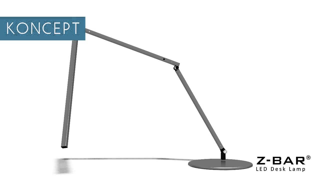 Koncept Z Bar LED Desk Lamp YouTube – Z-bar Led Desk Lamp