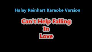 Can't Help Falling In Love - Piano Karaoke - Haley Reinhart Version