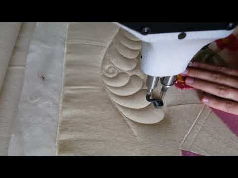 Machine Quilting a Feather Border - With Natalia Bonner