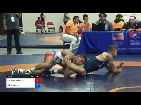 2018 Marine Corps US Open/Senior Men's Freestyle 70 Quarters - Alec Pantaleo (MRTC) Vs. Dylan Ness