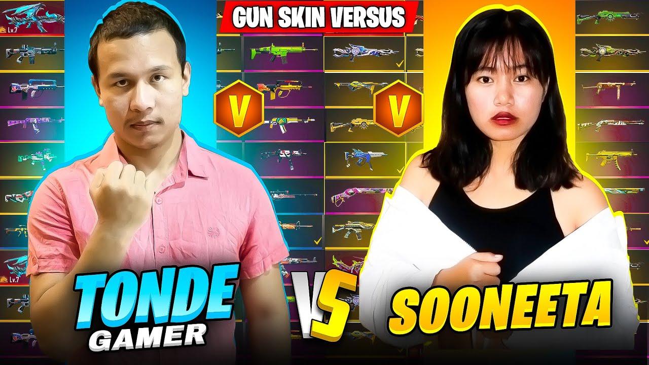 Sooneeta Richest Diamond Queen Vs Tonde Gamer Best Rare Gun Collection Battle - Garena Free Fire