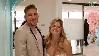 Jenny und Marco feiern ihre Gender Reveal Party im Hamburger Ding