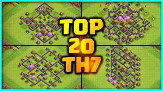 New Best Th7 base link War/Farming Base (Top20) With Link in Clash of Clans - th7 war base 2020