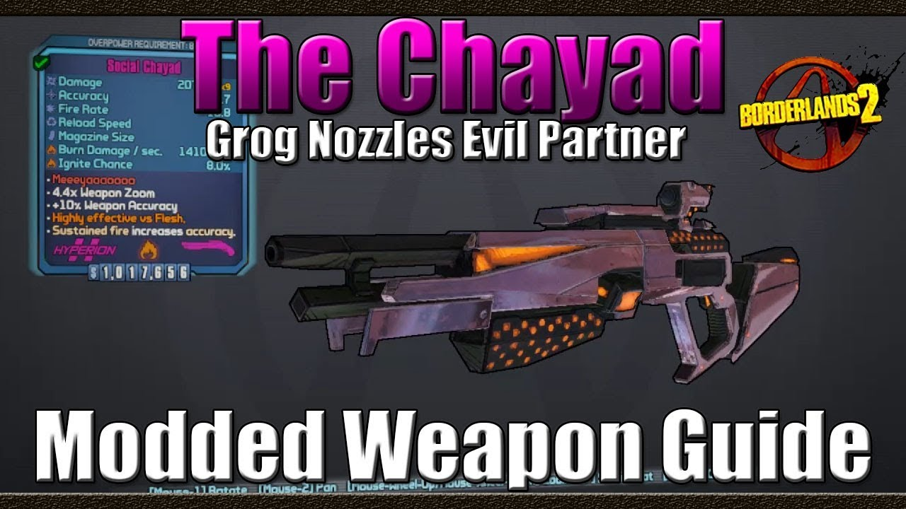 Borderlands 2 | The Chayad | Grog Nozzles Evil Partner | Modded Weapon Guide