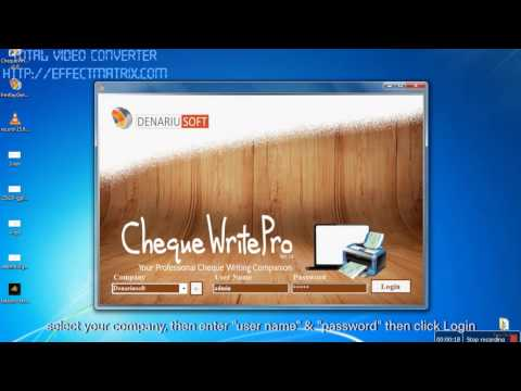 Denariusoft - ChequeWrtiePro Software Malaysia