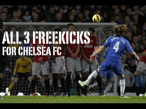 David Luiz -  All 3 Freekick Goals For Chelsea FC - HD