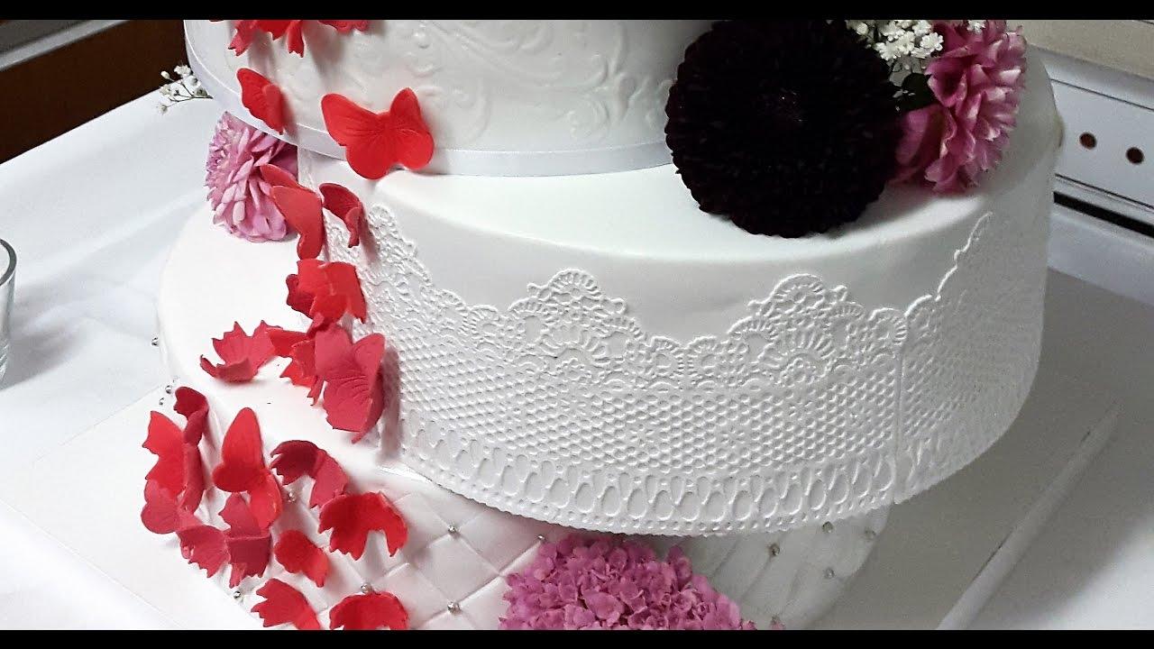 Tortenspitze Herstellen Cake Lace Verwendung Von Flexi Ice Youtube