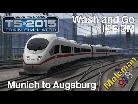 TS2015 | Wash and Go | Munich to Augsburg | ICE 3M