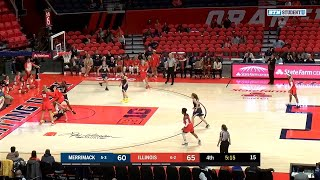 Highlights: Merrimack at Illinois | B1G Women's Basketball | Dec. 10, 2019