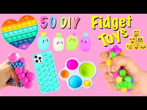 50 DIY – FIDGET TOYS IDEAS – Viral TIKTOK Fidget Toys Complation – Funy POP ITs and more..