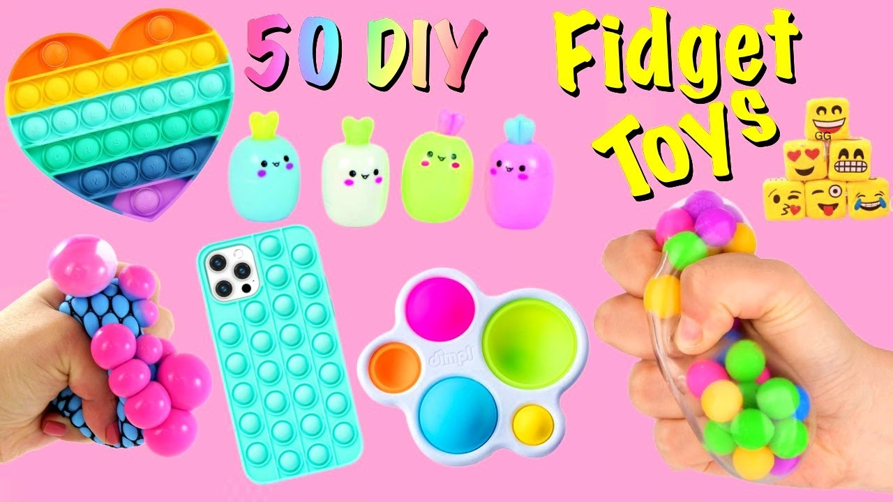 50 DIY - FIDGET TOYS IDEAS - Viral TIKTOK Fidget Toys Complation - Funny POP ITs and more..