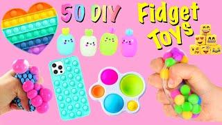 50 DIY - FIĎGET TOYS IDEAS - Viral TIKTOK Fidget Toys Complation - Funny POP ITs and more..
