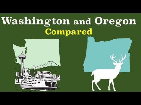 Washington and Oregon Compared