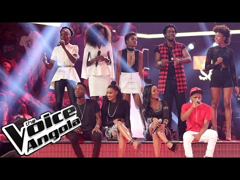 """24 talentos cantam """"País Novo"""" / The Voice Angola 2015 / Gala"""