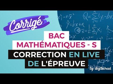 Bac 2017 - Correction en LIVE de l'épreuve de MATHS (Série S)