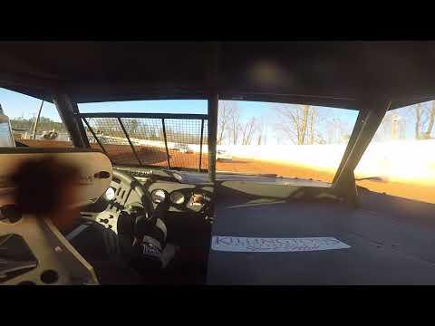 East Lincoln Speedway 3-22-19 Pro 4 Heat Race Alexus Motes (FRONT CAM)